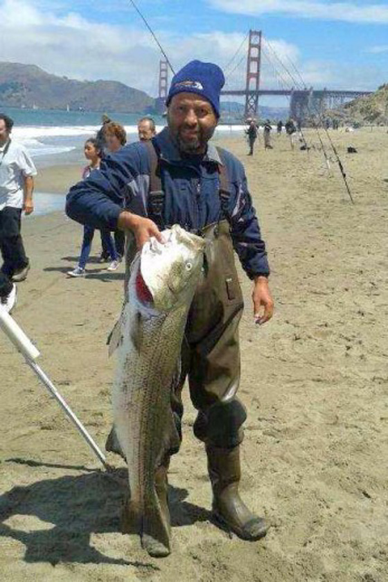 California Surf fishing for Striped Bass
