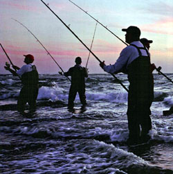 Surf fishing at Cape Hatteras