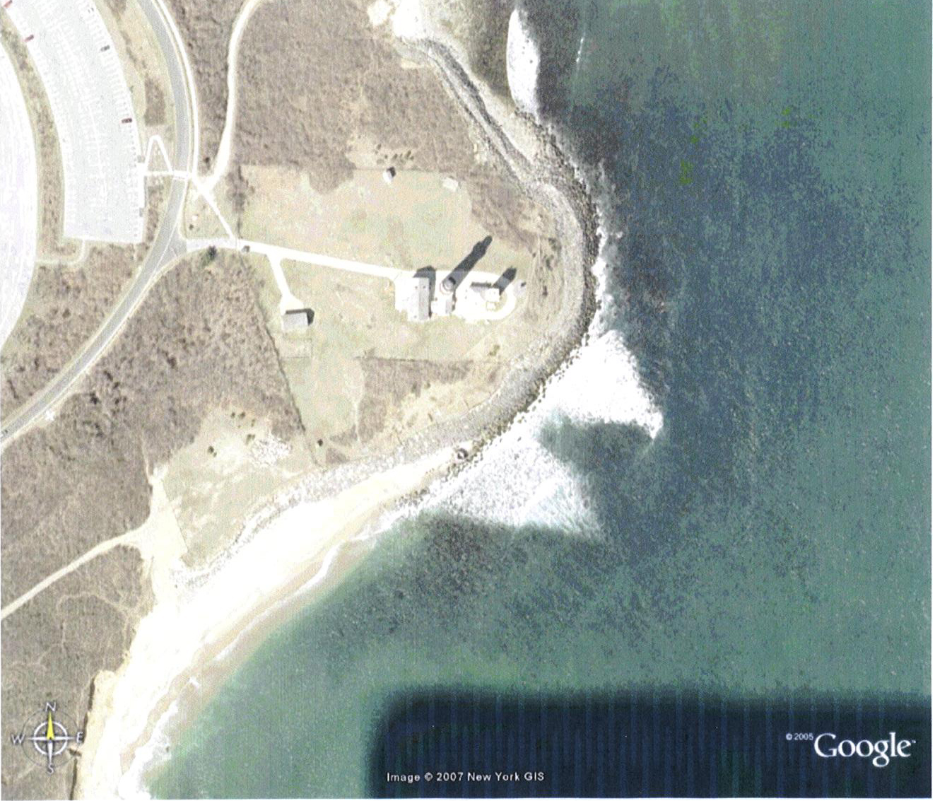 Montauk Point as seen from space