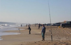 Surf fishing on the Outer Banks