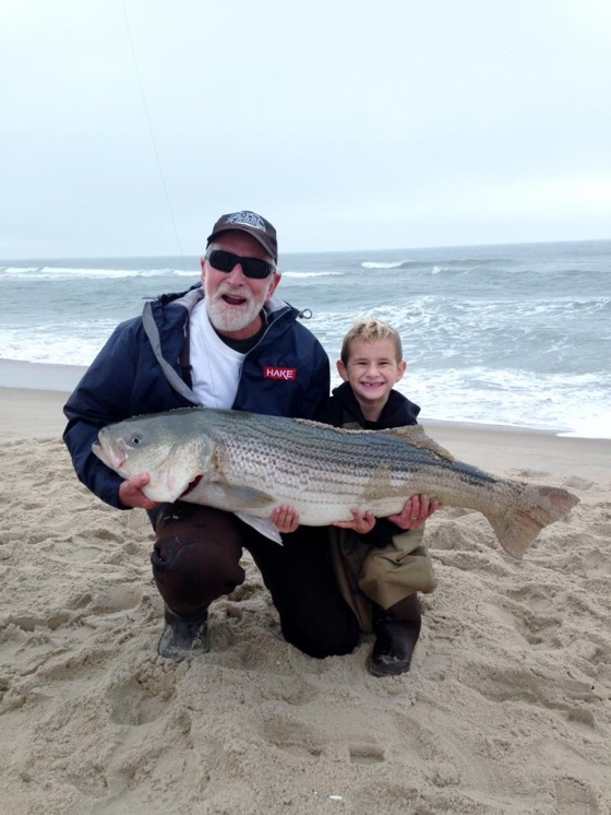 Sam Adams  and His 41lb Striped Bass